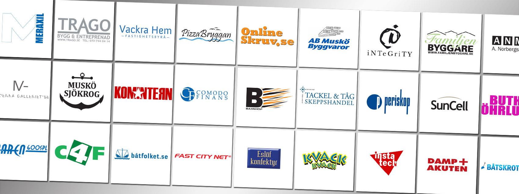 Logotyper och varumärkesbyggande profiler för företag